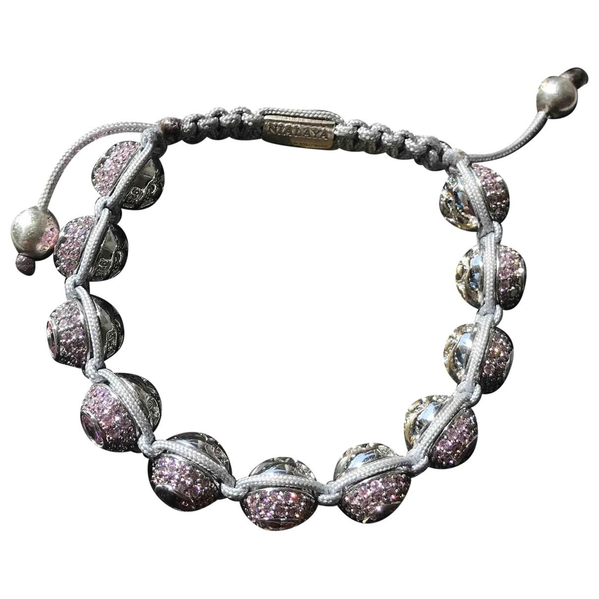 Nialaya \N Armband in  Lila Perlen