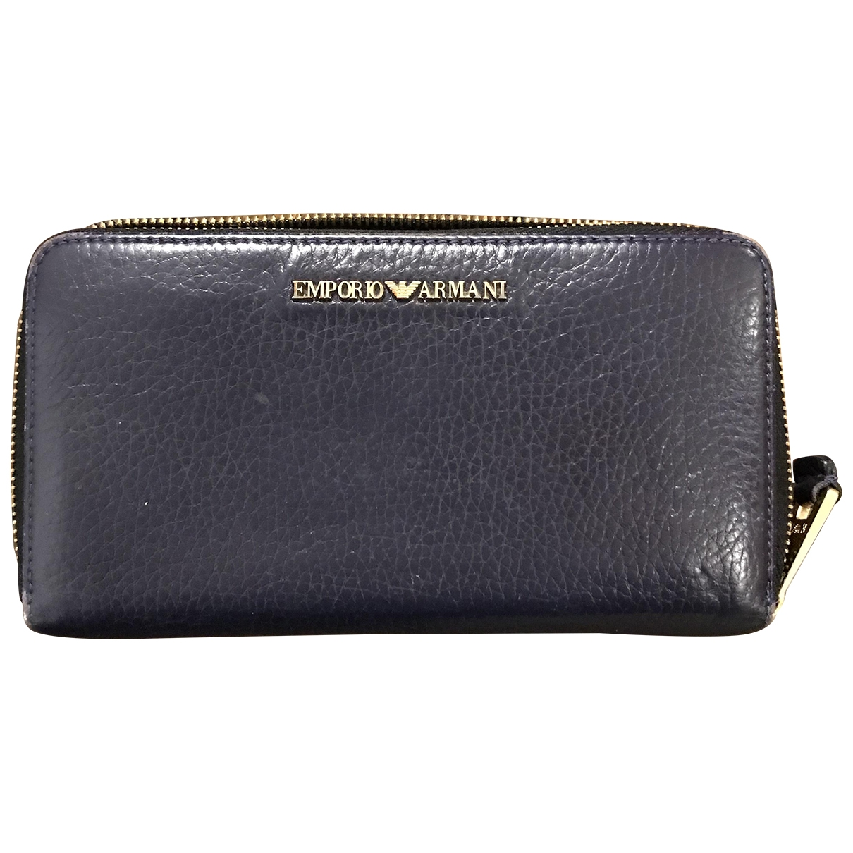 Emporio Armani \N Navy Leather wallet for Women \N