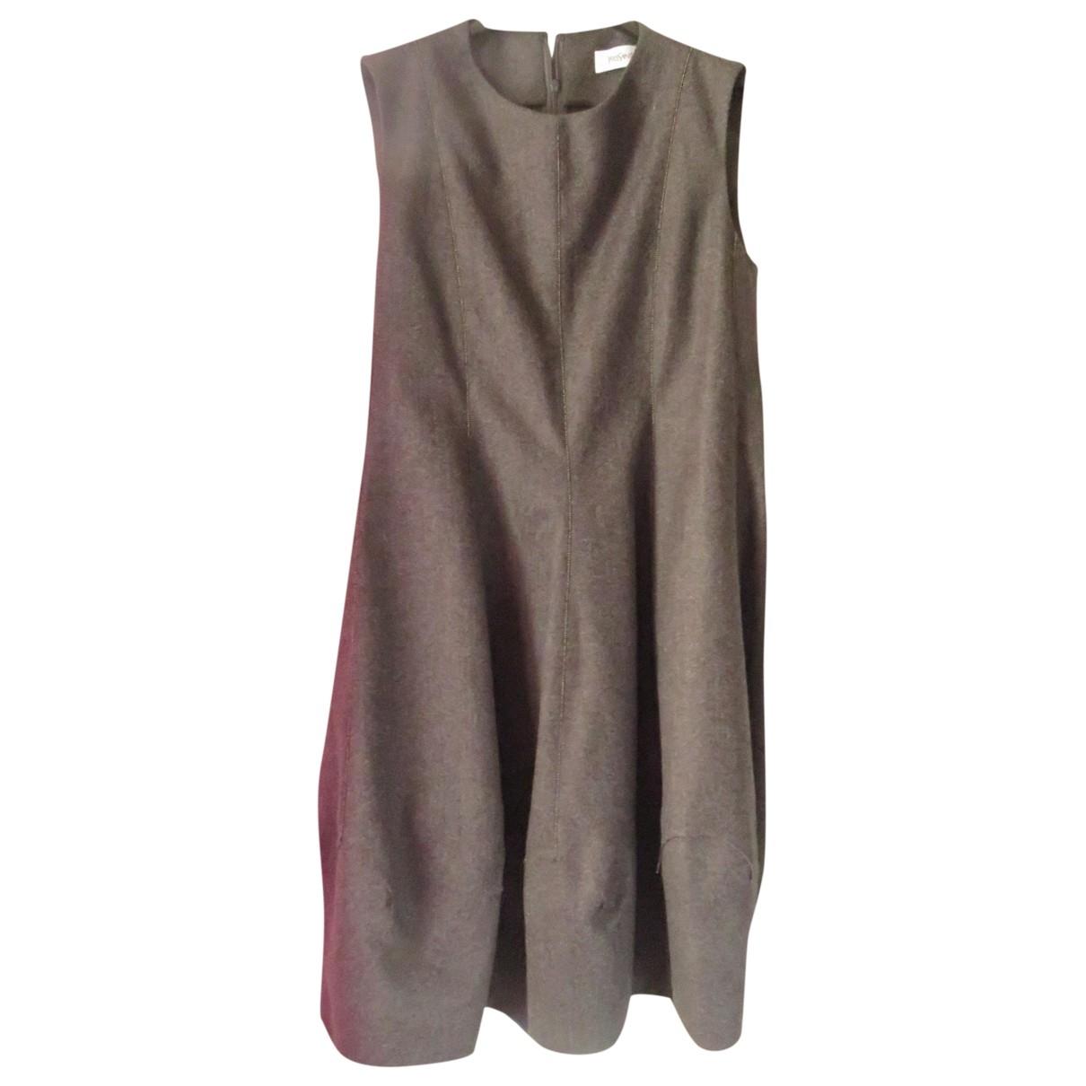 Maxi vestido de Lana Yves Saint Laurent