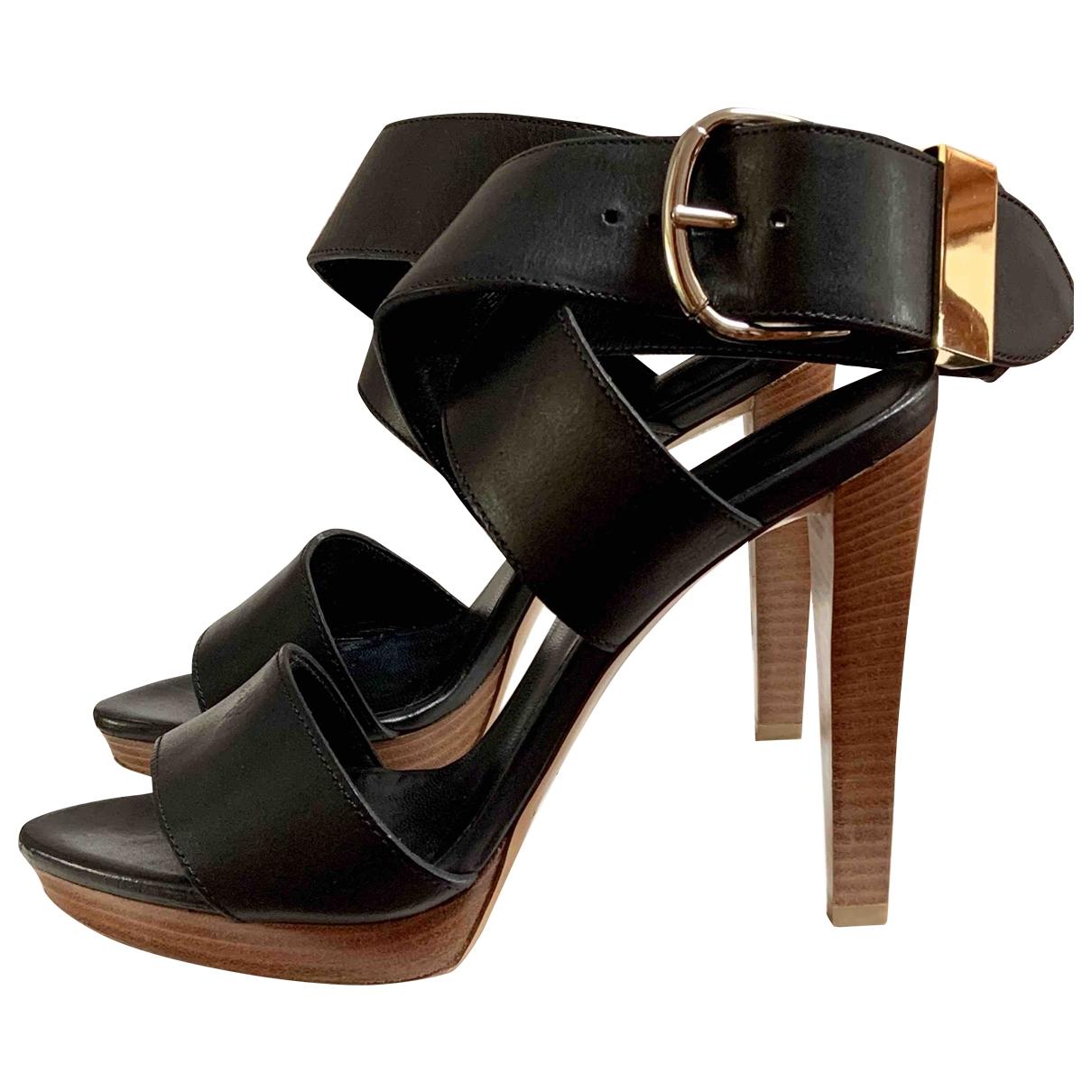 Balenciaga \N Black Leather Sandals for Women 38 EU