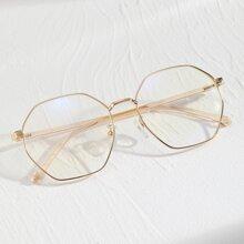 Maenner Sonnenbrille mit Polygon Rahmen
