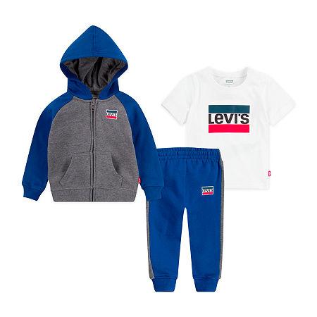 Levi's Toddler Boys 3-pc. Pant Set, 4t , Black