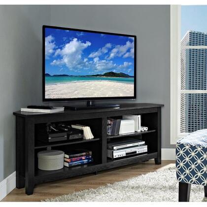 W58CCRBL 58 Wood Corner TV Console -