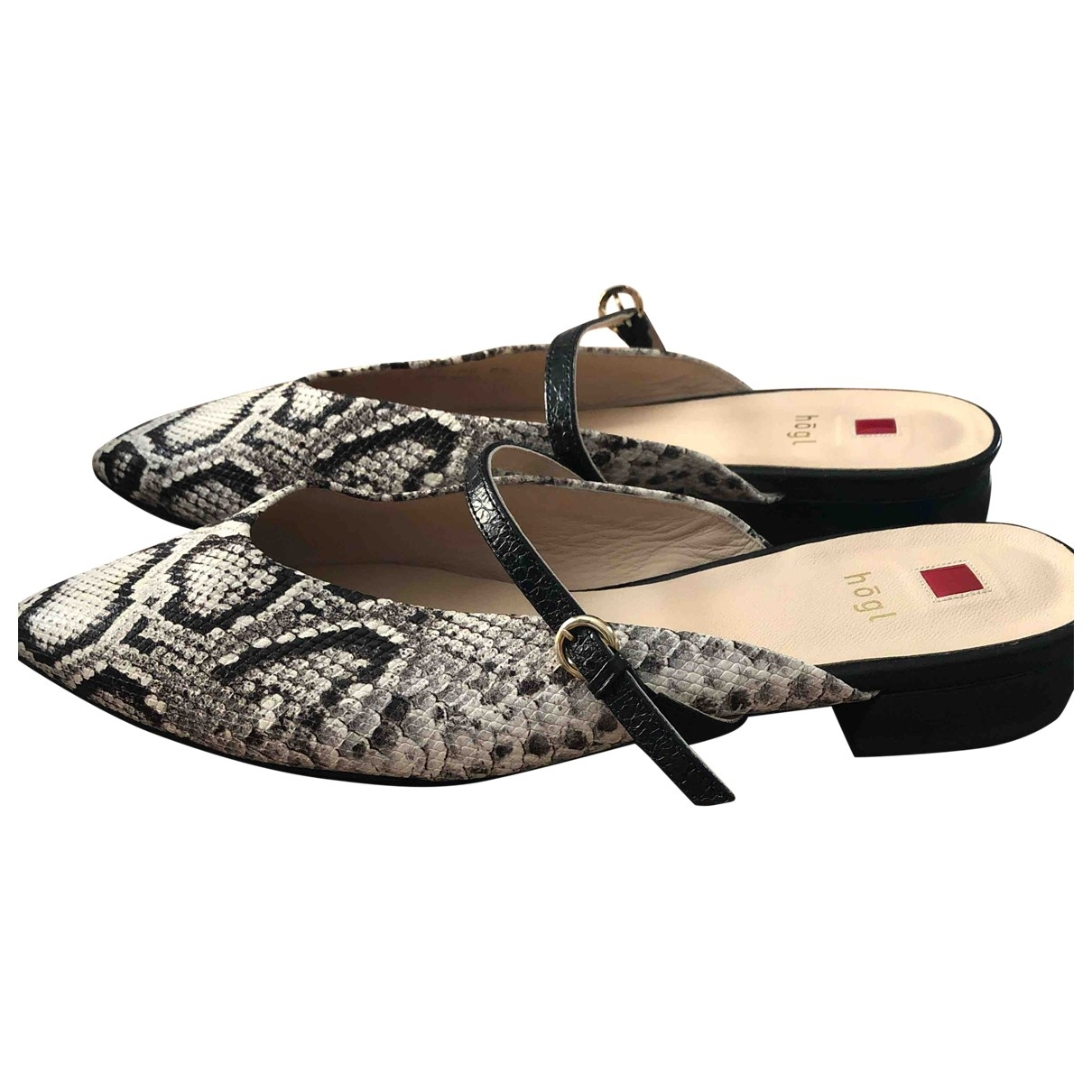 Non Signé / Unsigned \N Multicolour Exotic leathers Flats for Women 36.5 EU