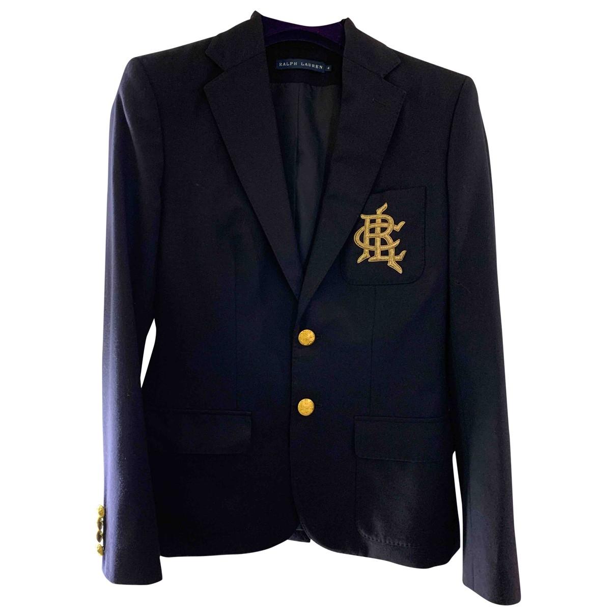 Ralph Lauren \N Jacke in  Blau Wolle