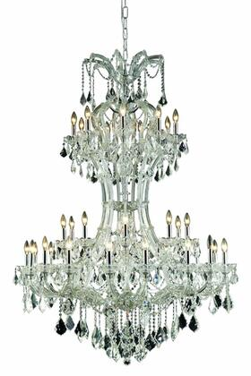 2800D46C/EC 2800 Maria Theresa Collection Hanging Fixture H64in D46in Lt: 36 Chrome Finish (Elegant Cut