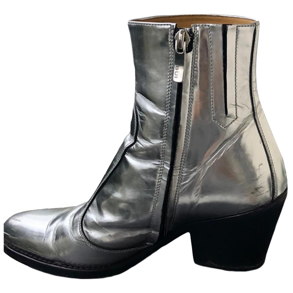 Barbara Bui \N Stiefel in  Silber Leder