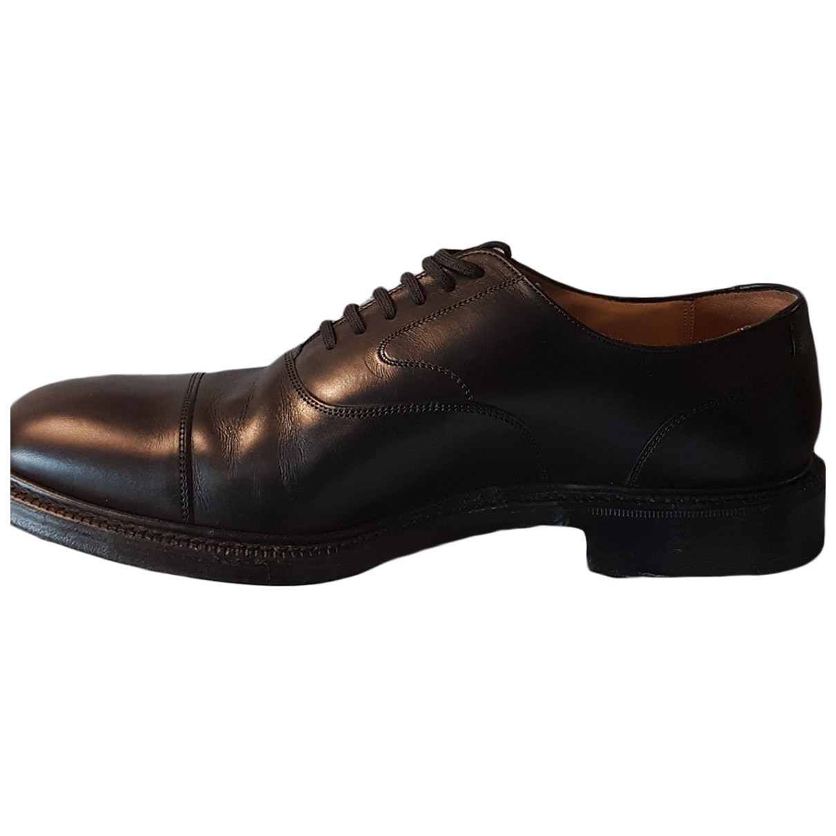 Church's N Black Leather Lace ups for Men 43,5 EU