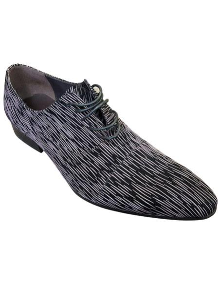 Mens Stylish Cap Toe lace-up Brown ~ Black zota shoes