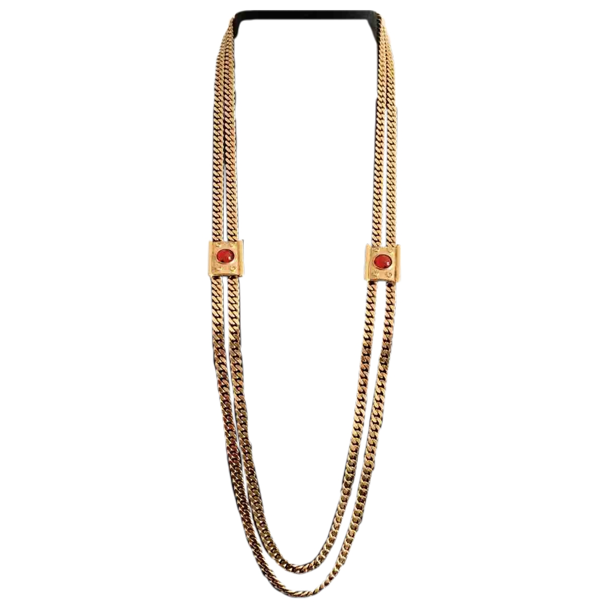 Non Signé / Unsigned  Maille Américaine Gold Metal Long necklace for Women \N