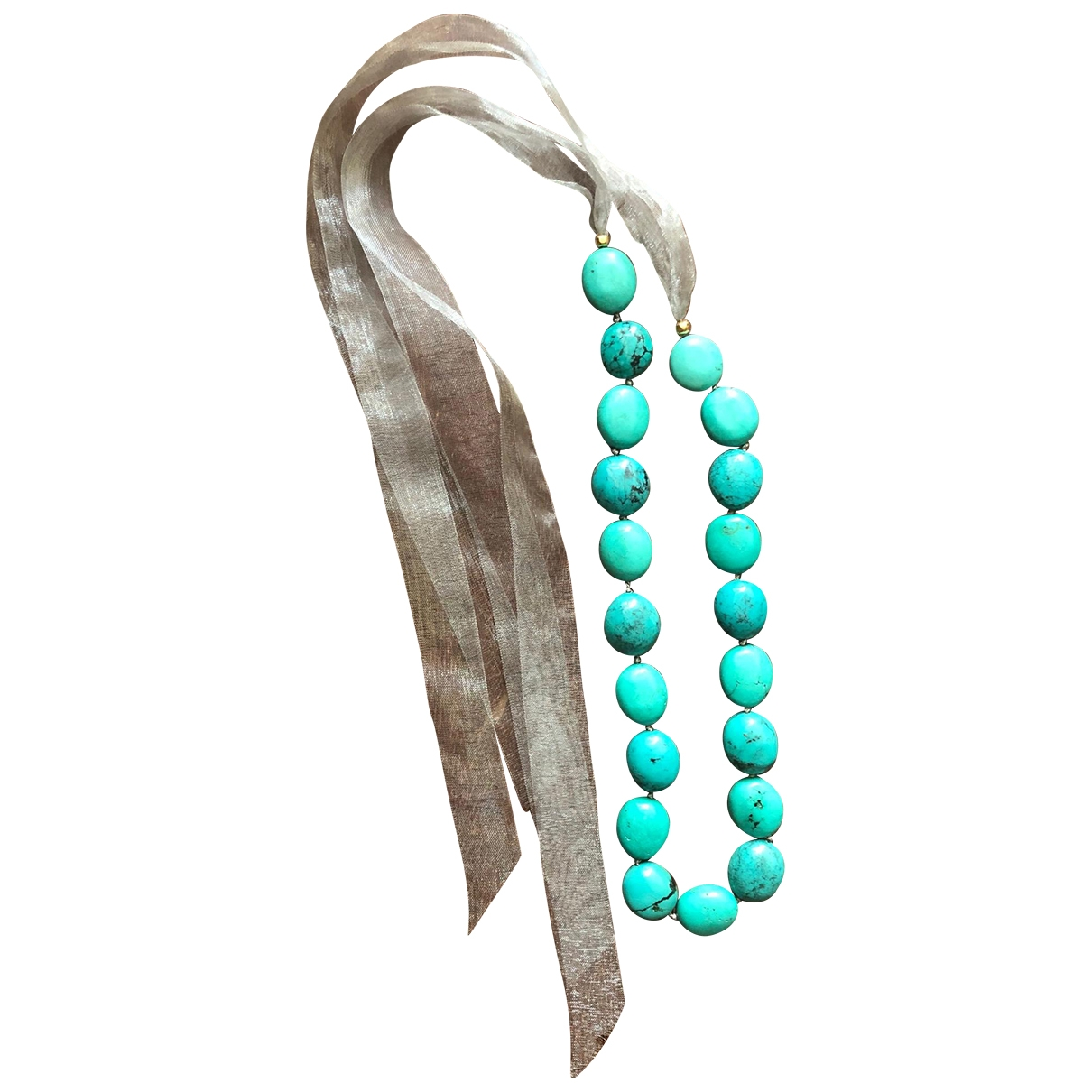 Collar Turquoises de Perlas Non Signe / Unsigned