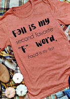 Fall Is My Second Favorite F Word T-Shirt Tee - Watermelon Red