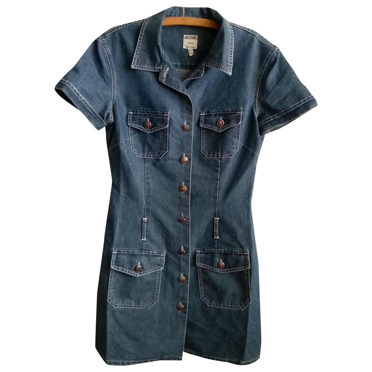 Moschino Cheap And Chic - Robe   pour femme en denim - bleu