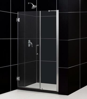 SHDR-20527210-01 Unidoor 52-53 In. W X 72 In. H Frameless Hinged Shower Door With Support Arm In