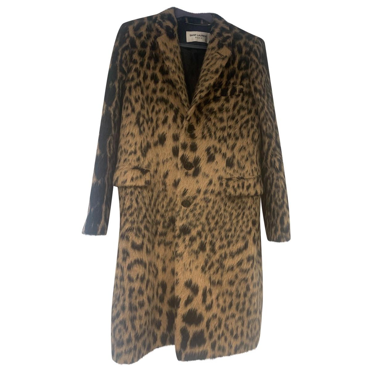 Saint Laurent - Manteau   pour femme en laine - multicolore