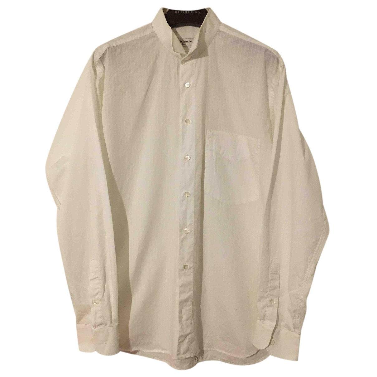 Guy Laroche N White Cotton Shirts for Men 41 EU (tour de cou / collar)