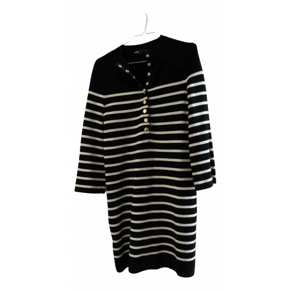 Sandro N Black Wool dress for Women 36 FR