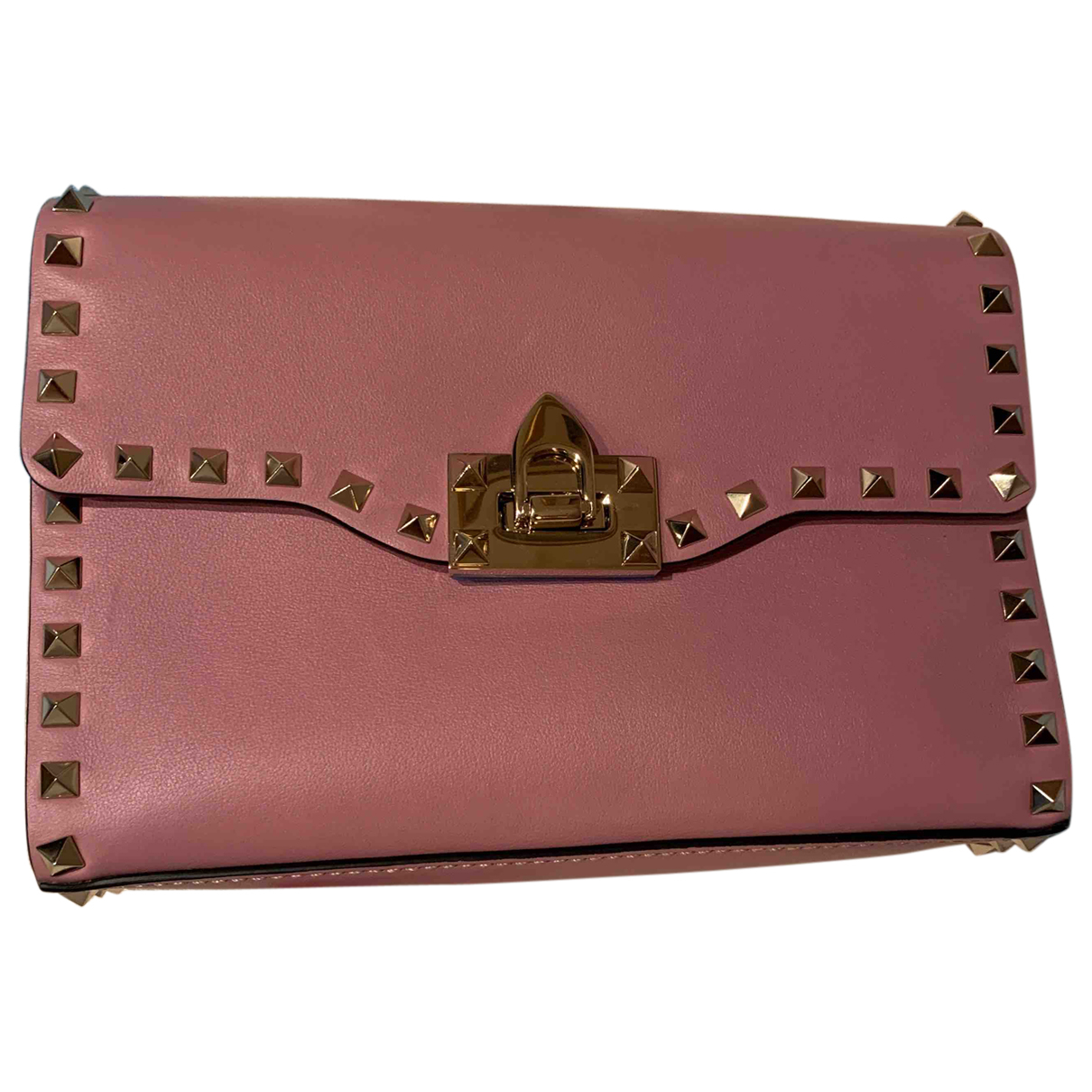 Valentino Garavani Rockstud Pink Leather handbag for Women \N