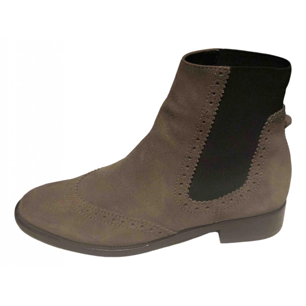 Balenciaga - Boots   pour femme en suede - gris