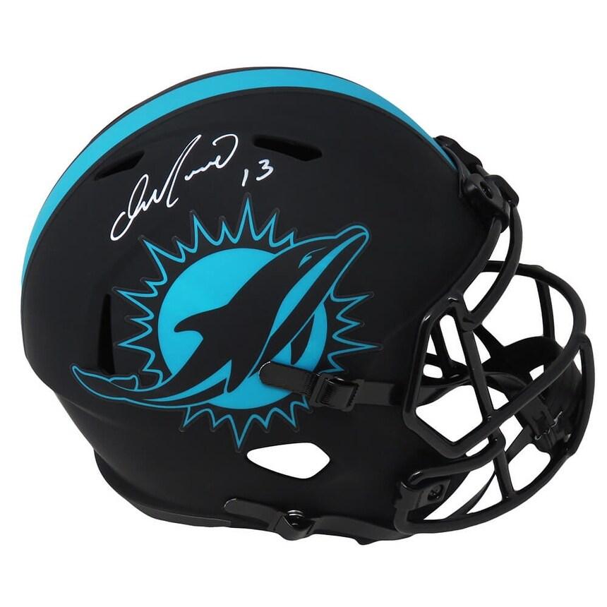 Dan Marino Miami Dolphins Eclipse Black Matte Riddell Full Size Speed Replica Helmet - 5' x 8' (Black - 5' x 8')