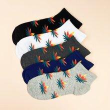 Men Maple Leaf Pattern Socks