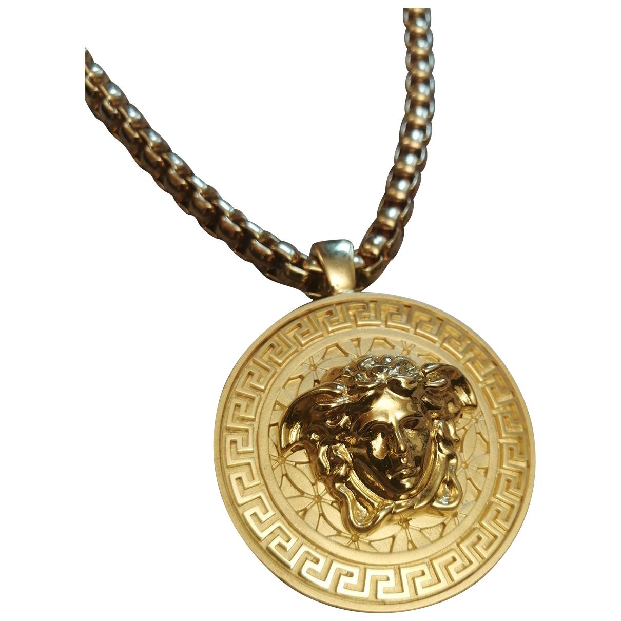 Versace - Bijoux Medusa pour homme en metal - dore