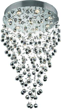 V2006D24C/RC 2006 Galaxy Collection Chandelier D:24In H:36In Lt:8 Chrome Finish (Royal Cut