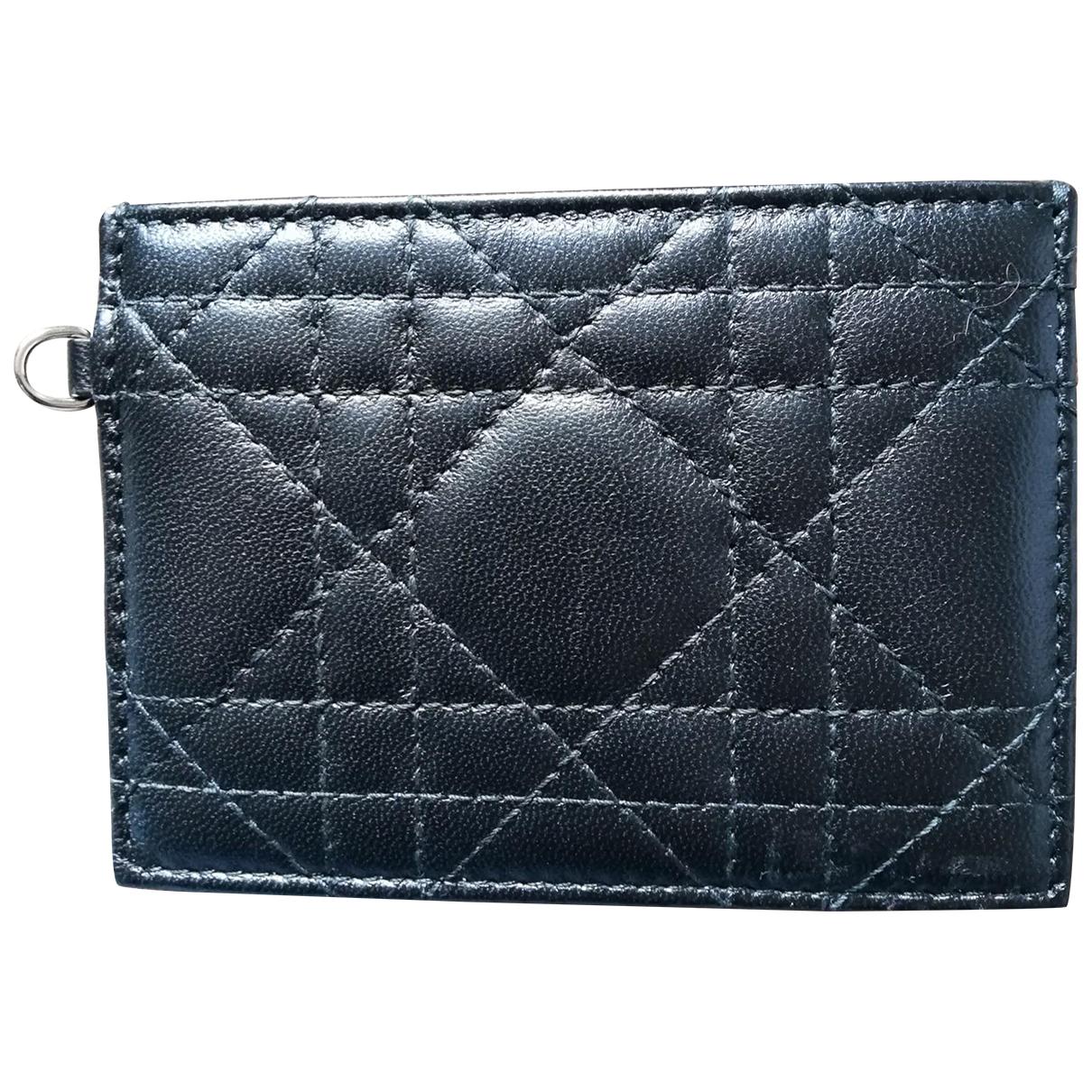 Christian Dior - Petite maroquinerie   pour femme en cuir - noir