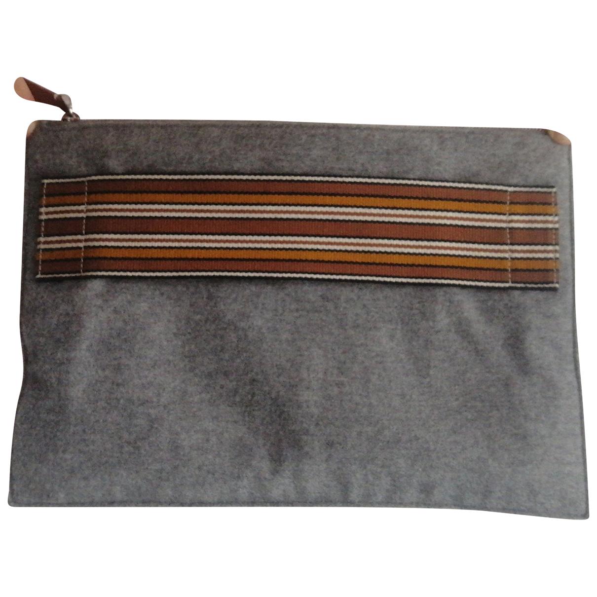 Loro Piana N Grey Cotton Clutch bag for Women N