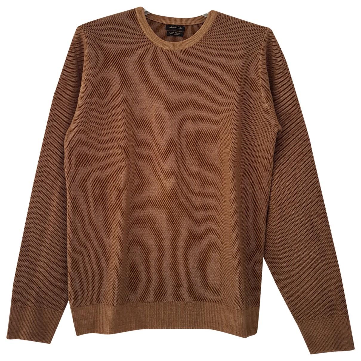Massimo Dutti \N Pullover.Westen.Sweatshirts  in  Braun Wolle