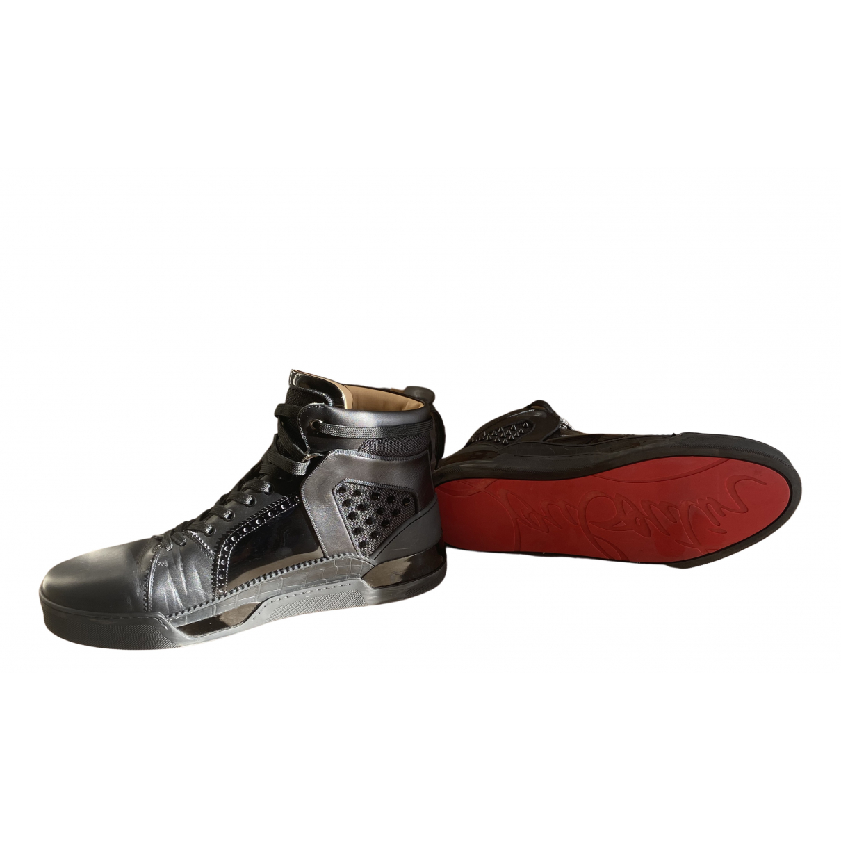 Christian Louboutin N Black Leather Trainers for Men 45.5 EU