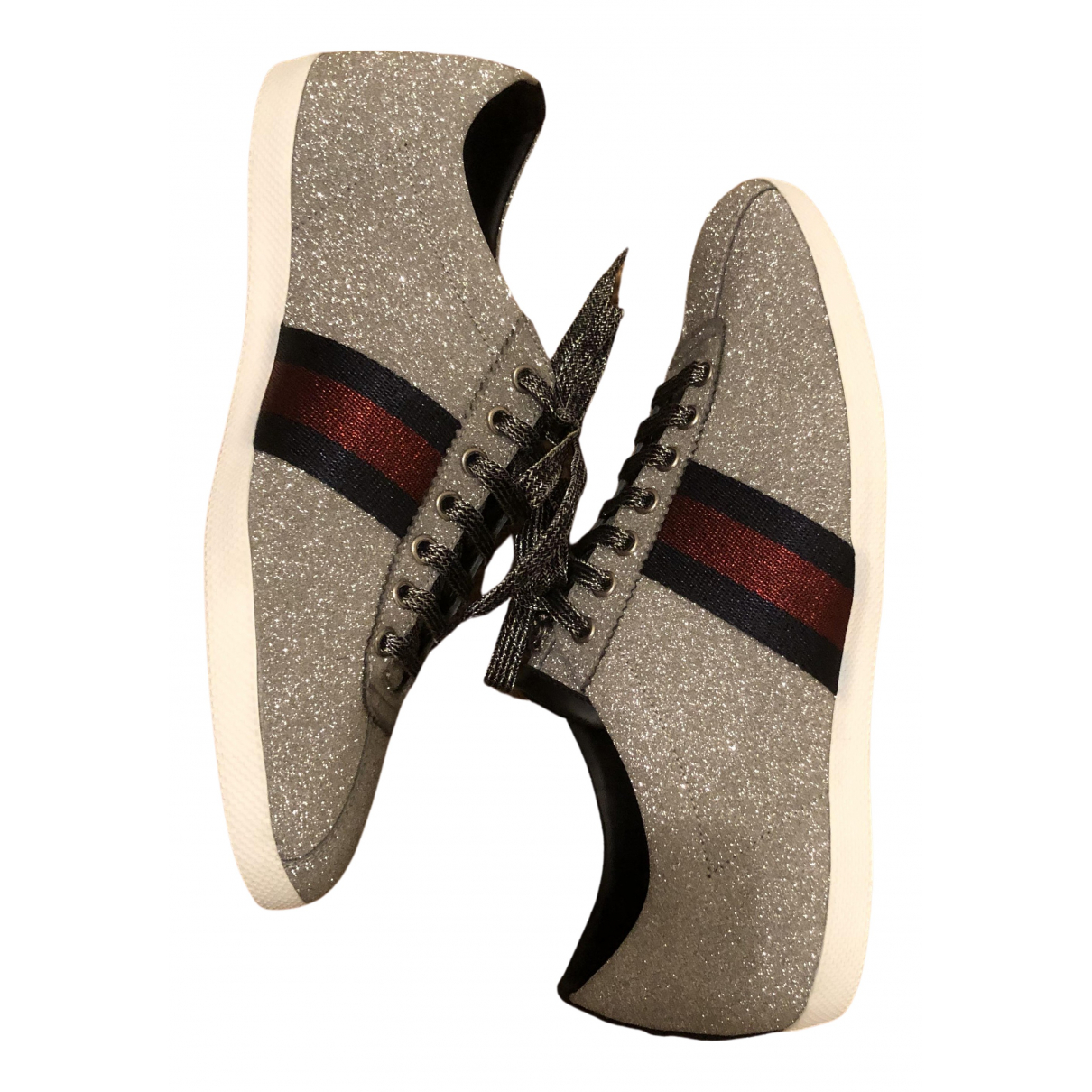 Gucci Falacer Sneakers in  Metallic Mit Pailletten