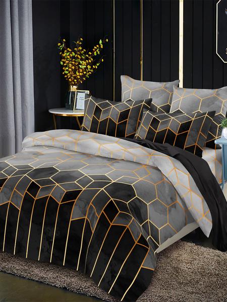 Milanoo Bedding Set Fashion 3-Piece Polyester Fiber Purple Modern Bedding