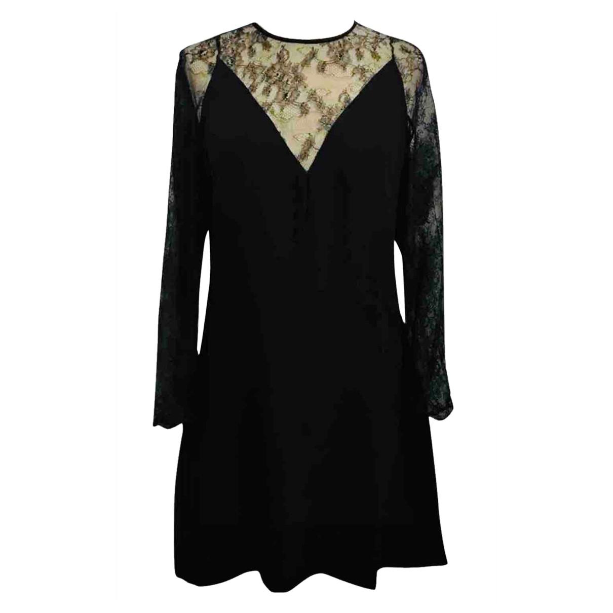 Valentino Garavani N Black Silk dress for Women 40 IT