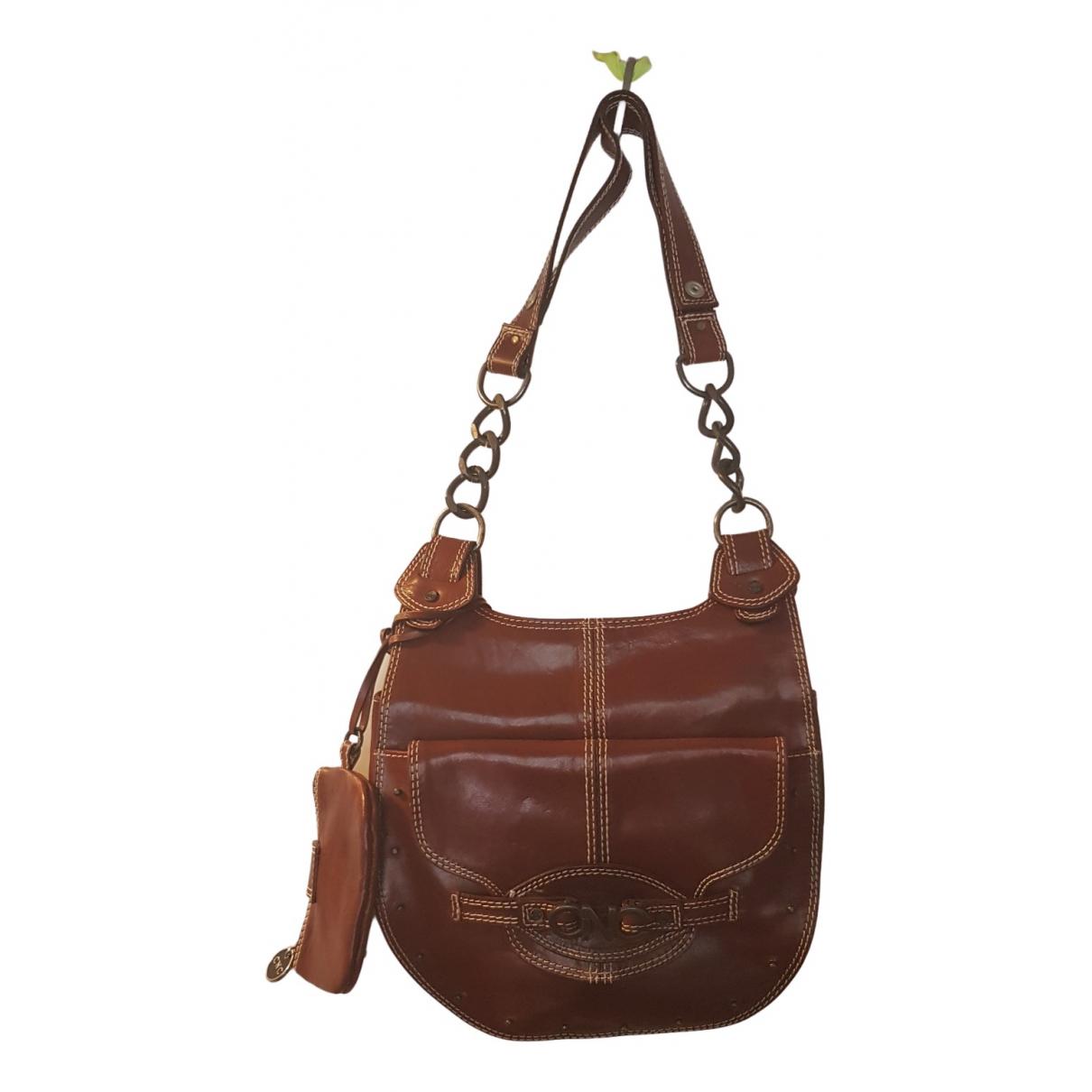 Cnc \N Handtasche in  Braun Leder