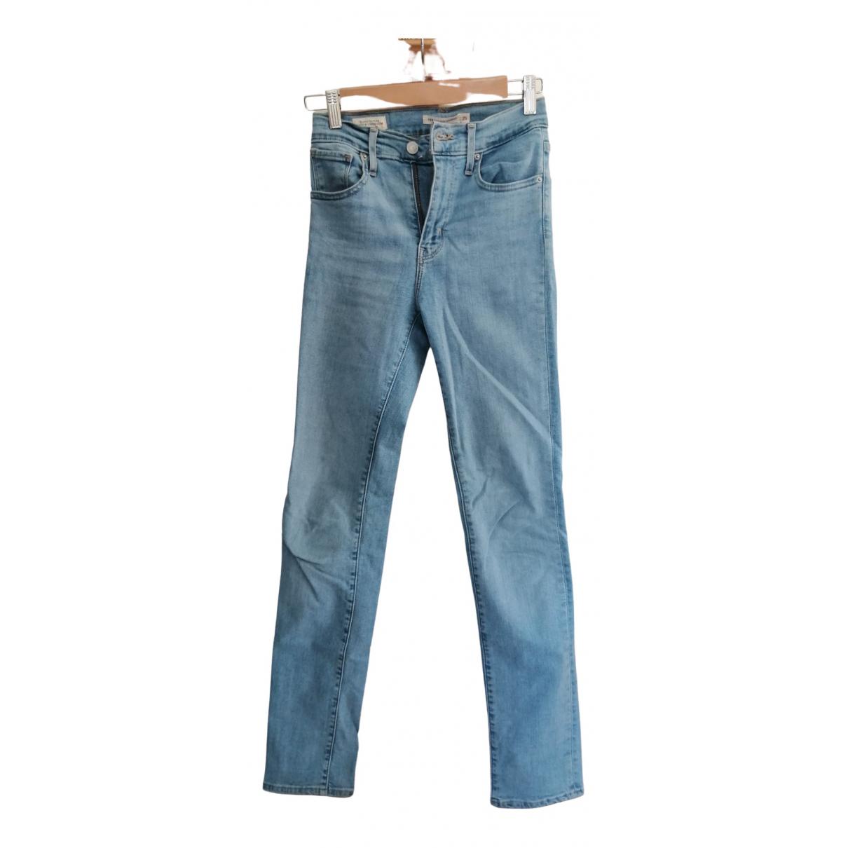 Levi's 724 Blue Denim - Jeans Jeans for Women 25 US