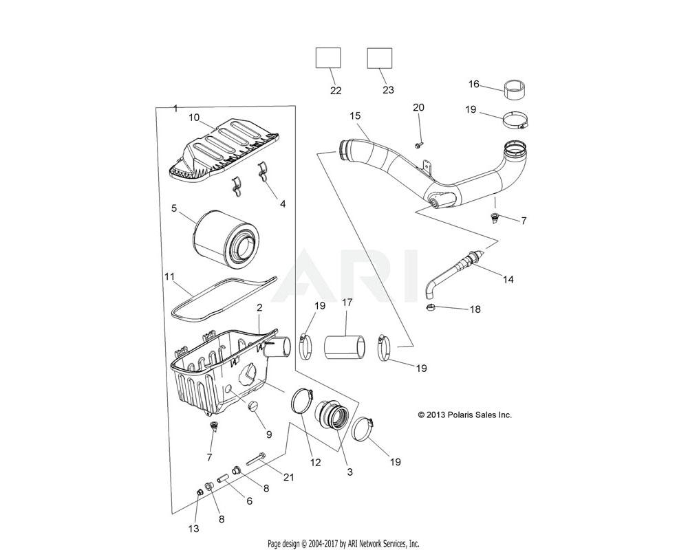 Polaris OEM 5450310 BOOT, ENGINE, INTAKE