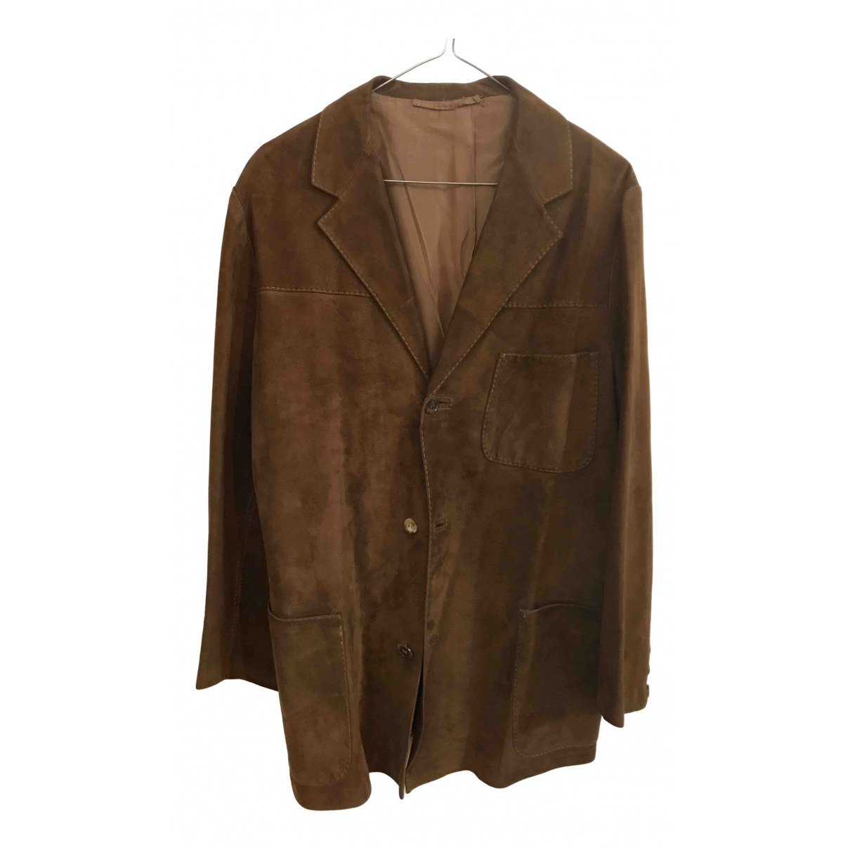 Non Signé / Unsigned N Brown Suede jacket  for Men M International