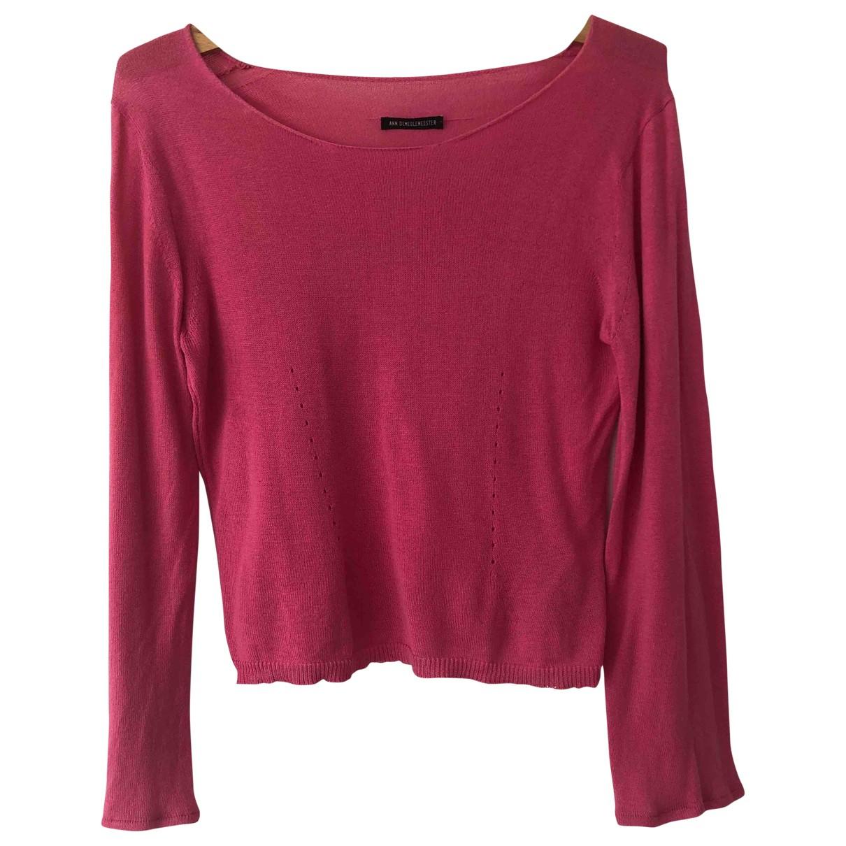 Ann Demeulemeester - Pull   pour femme en coton - rose