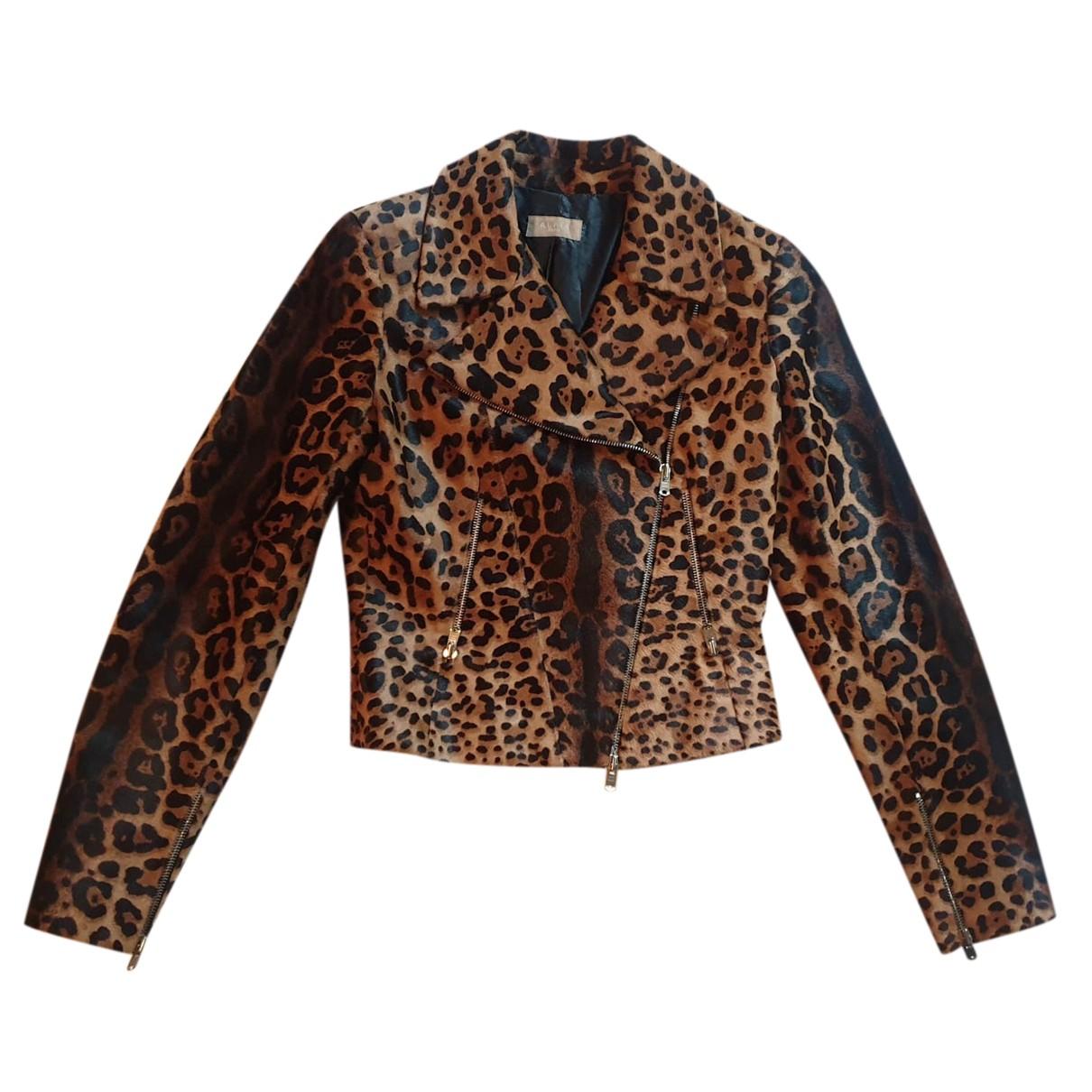 Alaia - Blouson   pour femme en cuir - multicolore