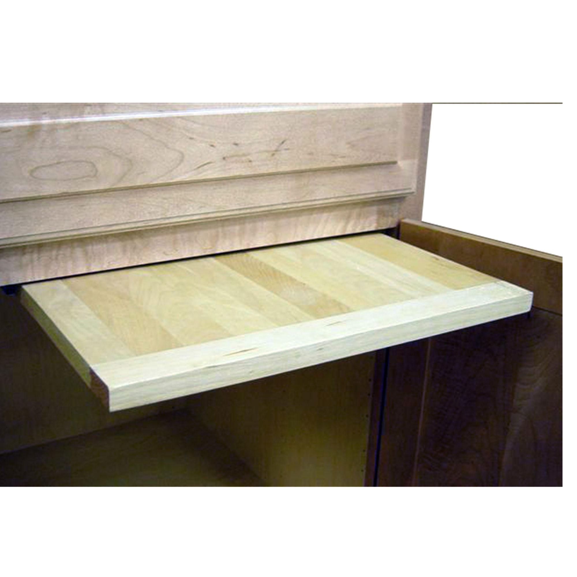 14 X 22 inch EZ Slide N Store Wood Cutting Board