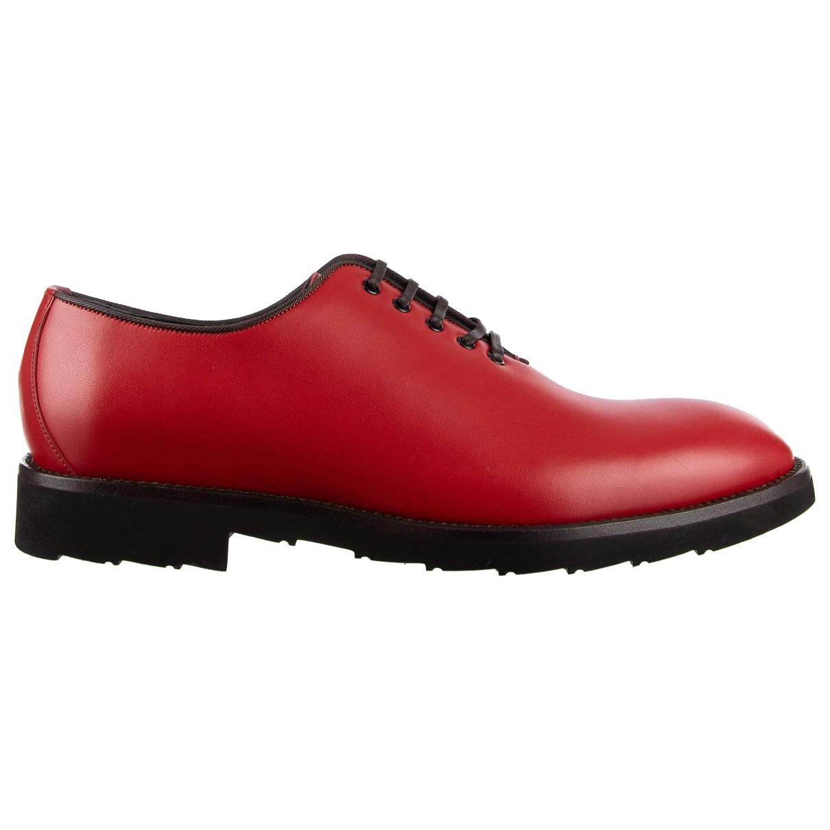 Dolce & Gabbana \N Schnuerschuhe in  Rot Leder