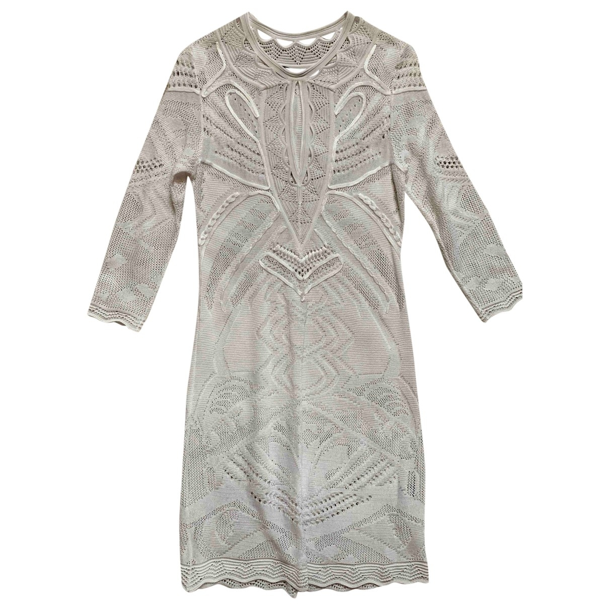 Roberto Cavalli \N White Lace dress for Women 38 IT