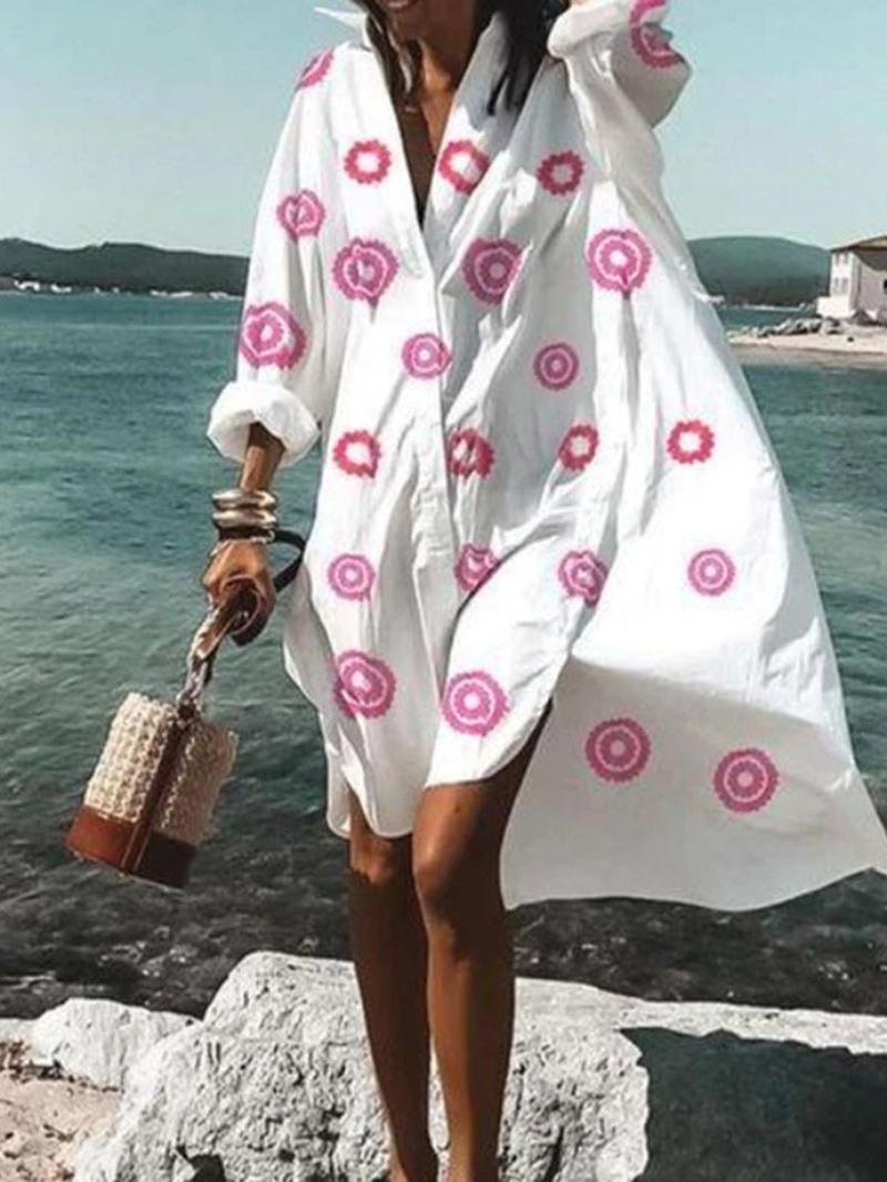 Ericdress Long Sleeve Asymmetric Lapel Regular Mid Waist Dress