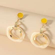 Irregular Charm Drop Earrings