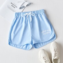 Letter Graphic Shorts