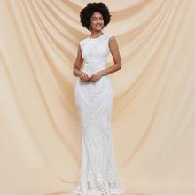 Prom Kleid mit Ausschnitt hinten, Pailletten und Mermaid Saum
