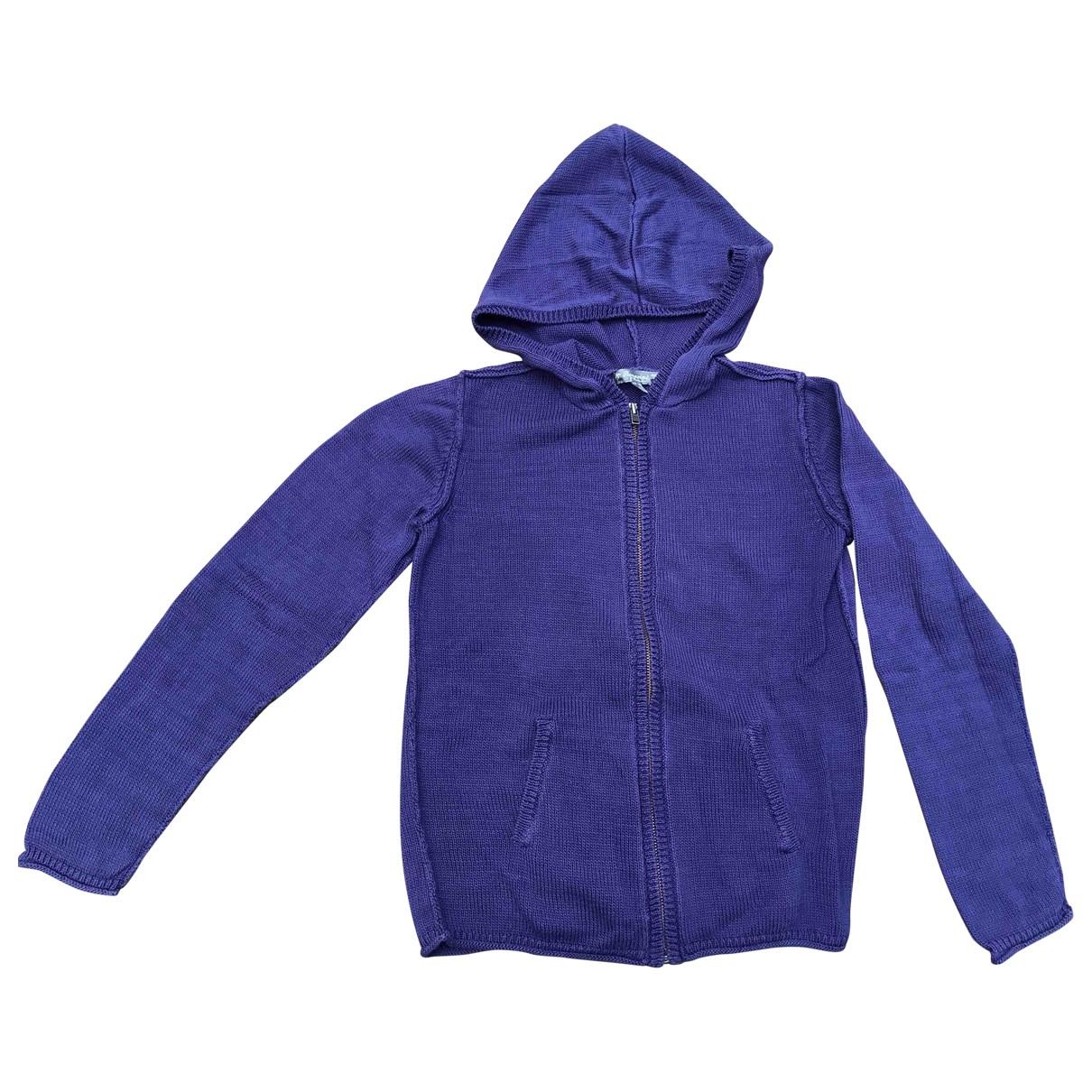 Bonpoint - Pull   pour enfant en coton - bleu