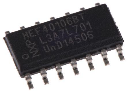 Nexperia HEF40106BT, Hex Schmitt Trigger Inverter, 14-Pin SOIC (57)