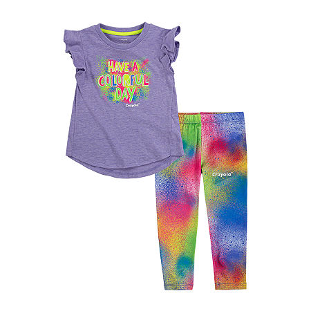 Crayola Baby Girls 2-pc. Legging Set, 18 Months , Purple